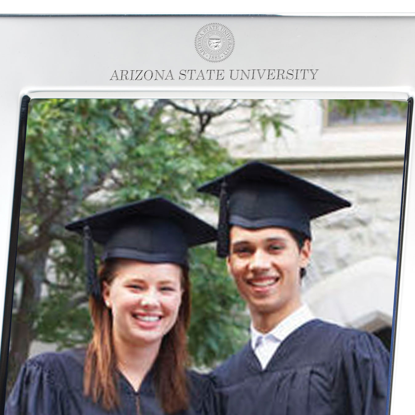 Arizona State Polished Pewter 5x7 Picture Frame