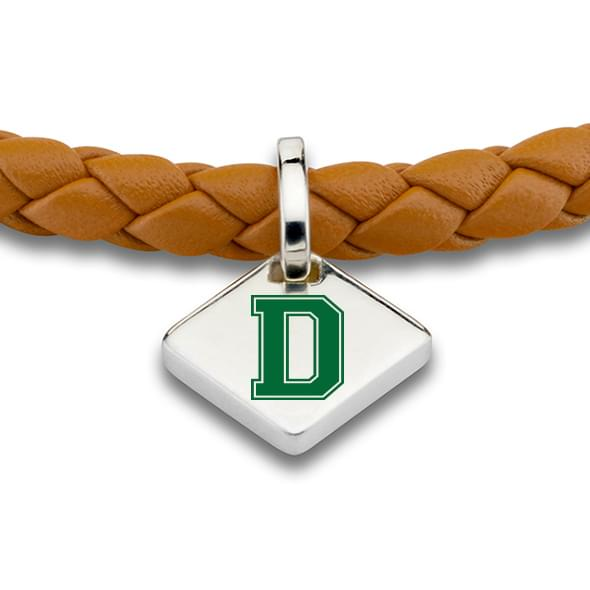 Dartmouth Leather Bracelet with Sterling Silver Tag - Saddle