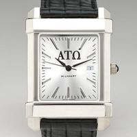 Alpha Tau Omega Men's Collegiate Watch with Leather Strap Image-1 Thumbnail