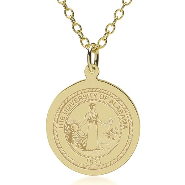 Alabama 14K Gold Pendant & Chain