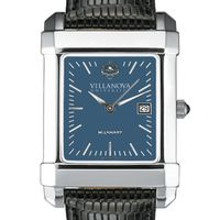 Villanova Men's Blue Quad Watch with Leather Strap