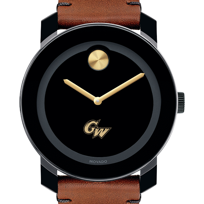George Washington Men's Movado BOLD with Brown Leather Strap