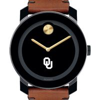 Oklahoma Men's Movado BOLD with Brown Leather Strap