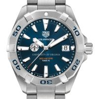 UVA Men's TAG Heuer Steel Aquaracer with Blue Dial