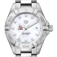 LSU Women's TAG Heuer Steel Aquaracer with MOP Diamond Dial