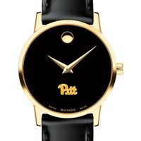 Pittsburgh Women's Movado Gold Museum Classic Leather