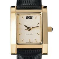 ASU Women's Gold Quad Watch with Leather Strap