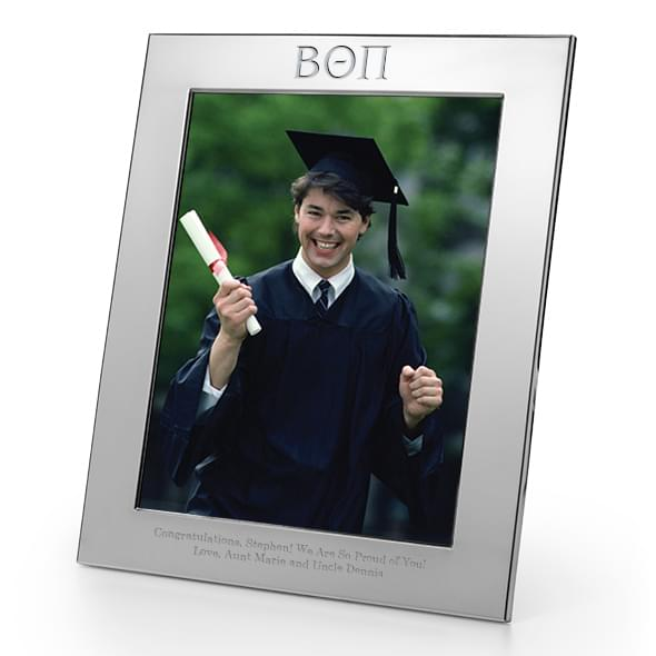 Beta Theta Pi Polished Pewter 8x10 Picture Frame