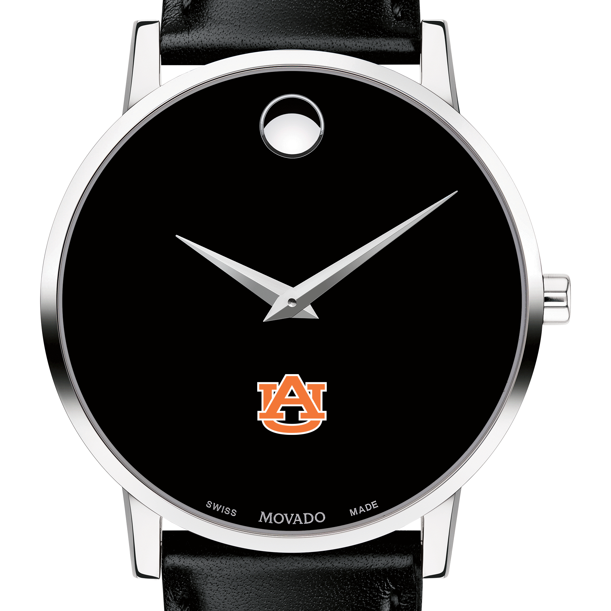 Auburn Men's Movado Museum with Leather Strap