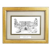 Framed Pen and Ink US Merchant Marine Academy Print