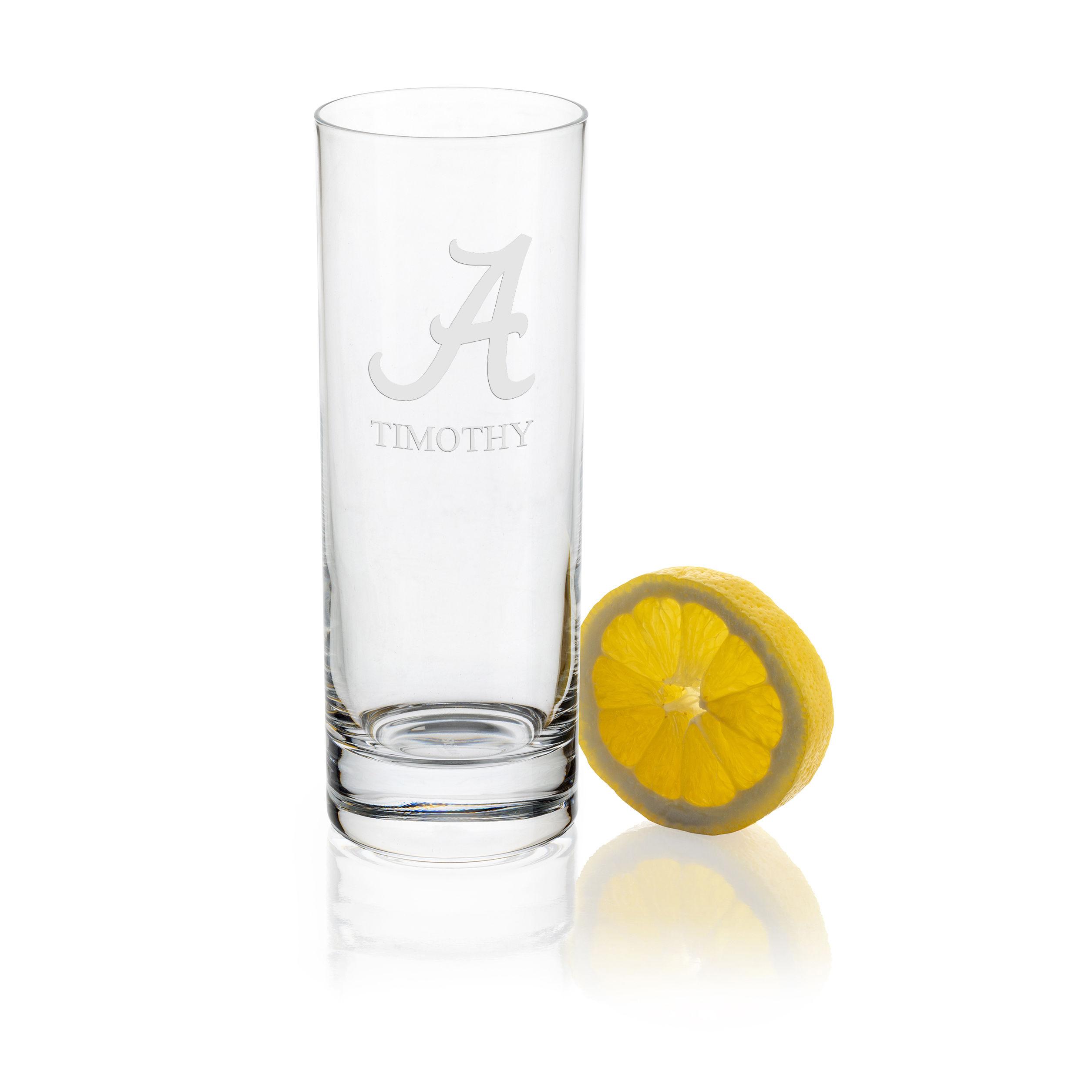 Alabama Iced Beverage Glasses - Set of 4