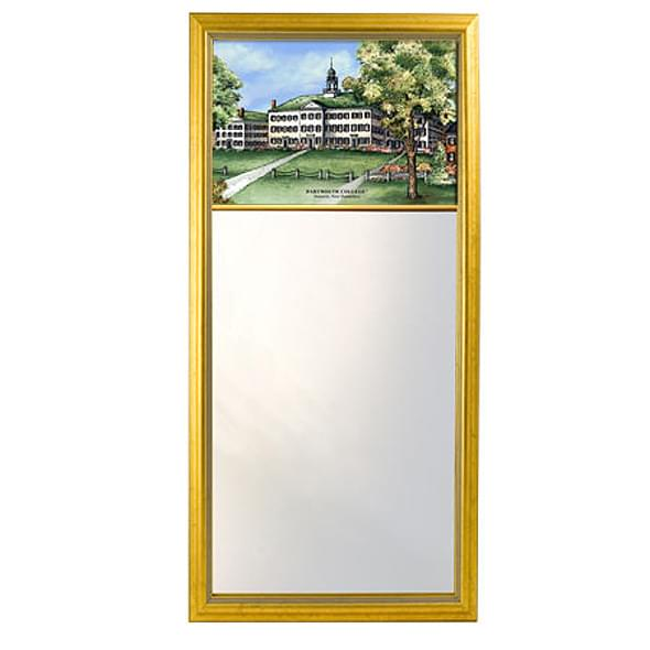 Dartmouth Eglomise Mirror with Gold Frame