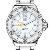 Georgia Tech Women's TAG Heuer Formula 1 Ceramic Diamond Watch
