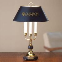 Traditional Clemson Lamp in Brass and Marble
