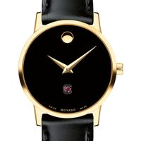 South Carolina Women's Movado Gold Museum Classic Leather