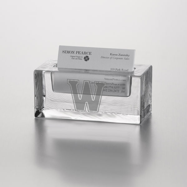 Williams Glass Cardholder by Simon Pearce