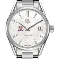 LSU Women's TAG Heuer Steel Carrera with MOP Dial