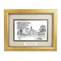 Bucknell Black Ink Gold Frame