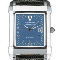 Vanderbilt Men's Blue Quad Watch with Leather Strap