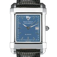 Wake Forest Men's Blue Quad Watch with Leather Strap