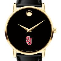 St. John's Men's Movado Gold Museum Classic Leather