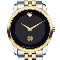 Notre Dame Men's Movado Two-Tone Museum Classic Bracelet