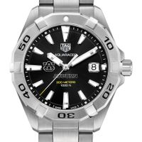 Auburn Men's TAG Heuer Steel Aquaracer with Black Dial