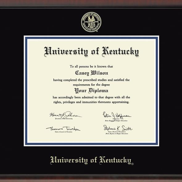 University Of Kentucky Diploma Frame Fidelitas
