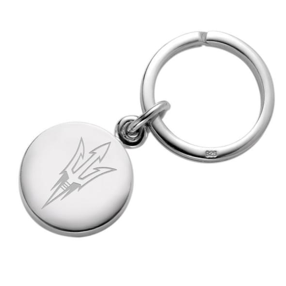Arizona State Sterling Silver Insignia Key Ring