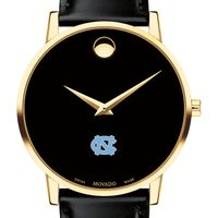 UNC Men's Movado Gold Museum Classic Leather