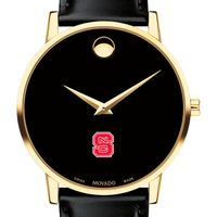 NC State Men's Movado Gold Museum Classic Leather