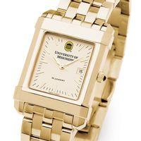 Ole Miss Men's Gold Quad Watch with Bracelet