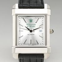 William & Mary Men's Collegiate Watch with Leather Strap
