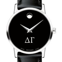 Delta Gamma Women's Movado Museum with Leather Strap Image-1 Thumbnail