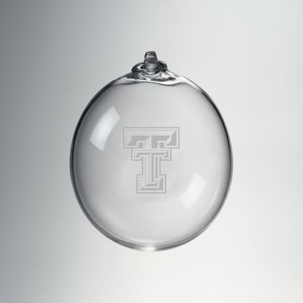 Texas Tech Glass Ornament by Simon Pearce