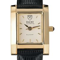 Emory Women's Gold Quad Watch with Leather Strap