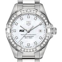 Arizona State Women's TAG Heuer Steel Aquaracer with MOP Diamond Dial & Diamond Bezel