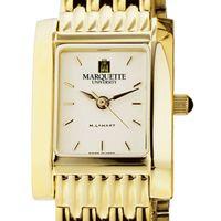 Marquette Women's Gold Quad Watch with Bracelet