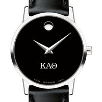 Kappa Alpha Theta Women's Movado Museum with Leather Strap Image-1 Thumbnail