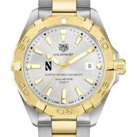 Northwestern Men's TAG Heuer Two-Tone Aquaracer