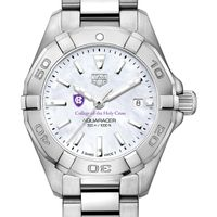 Holy Cross Women's TAG Heuer Steel Aquaracer with MOP Dial
