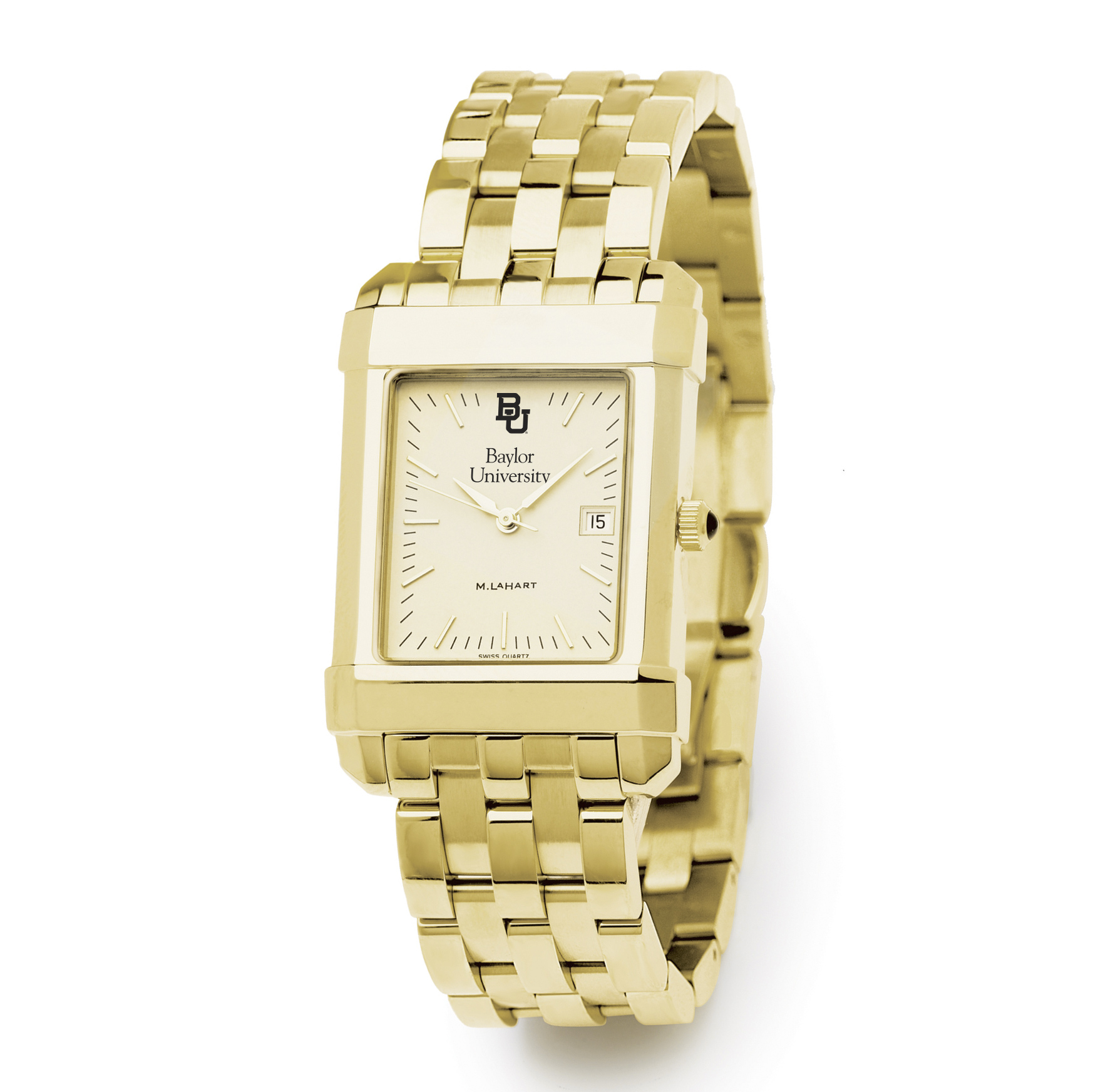 Baylor Men's Gold Quad with Bracelet
