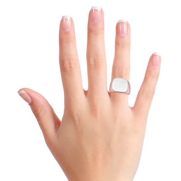 Yale Sterling Silver Square Cushion Ring