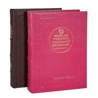 leather bound dictionary with monogram