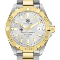 Brown Men's TAG Heuer Two-Tone Aquaracer