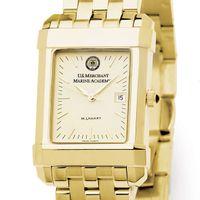 USMMA Men's Gold Quad Watch with Bracelet Image-1 Thumbnail