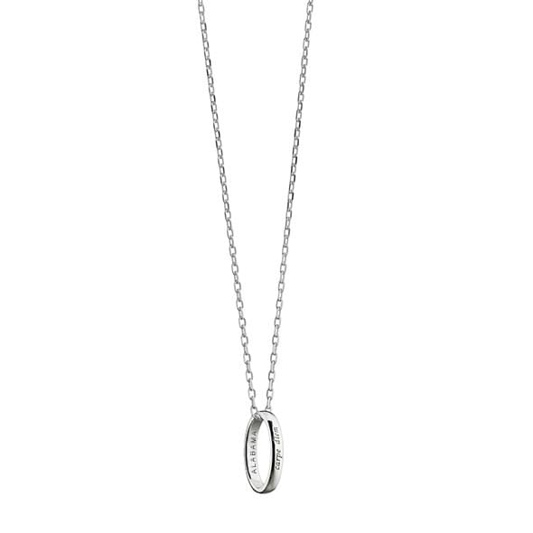 "Alabama Monica Rich Kosann ""Carpe Diem"" Poesy Ring Necklace in Silver"