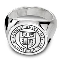 Cornell Sterling Silver Round Signet Ring