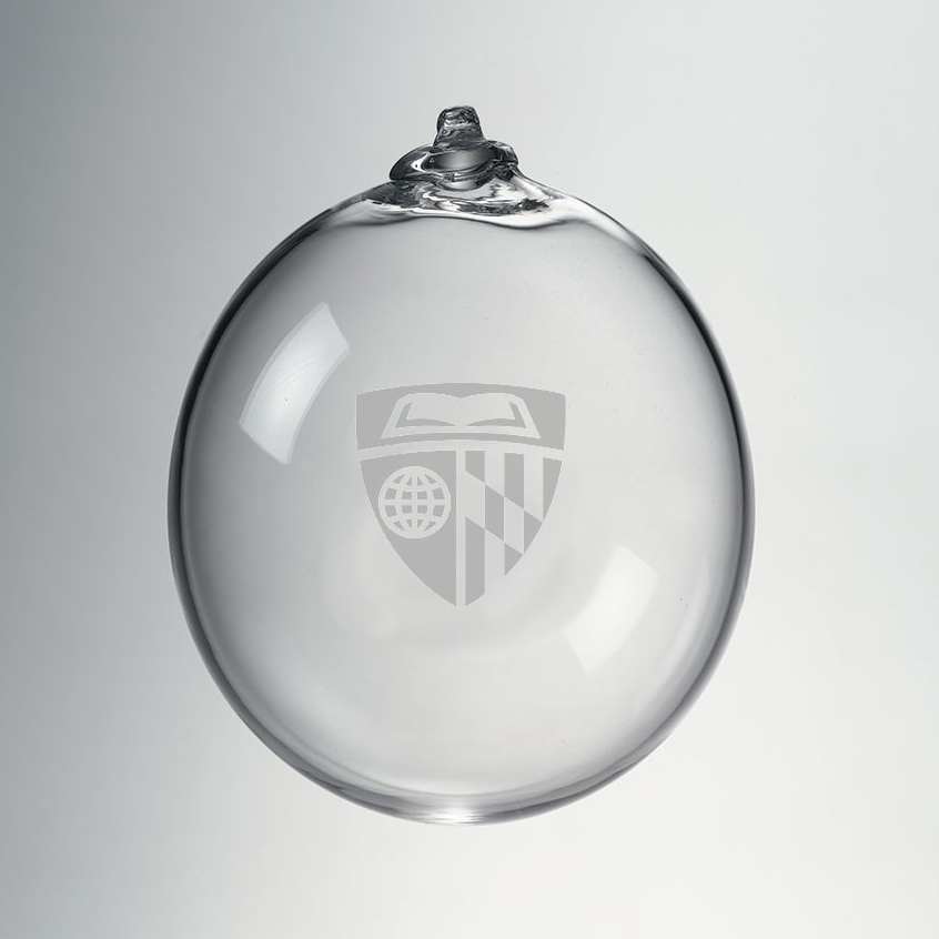 Johns Hopkins Glass Ornament by Simon Pearce