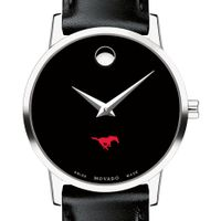 SMU Women's Movado Museum with Leather Strap